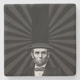 Abraham Lincoln Presidential Fashion Statement Stone Coaster