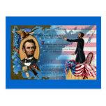 Abraham Lincoln que da la dirección de Gettysburg
