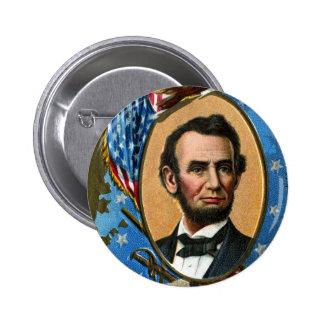 Abraham Lincoln que da la dirección de Gettysburg Pin Redondo De 2 Pulgadas