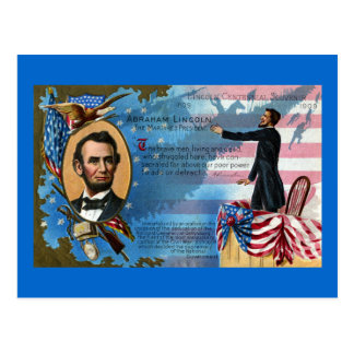 Abraham Lincoln que da la dirección de Gettysburg Postal