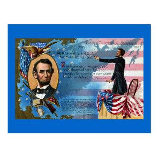 Abraham Lincoln que da la dirección de Gettysburg Tarjetas Postales