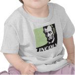 Abraham Lincoln que escucha la música Camisetas