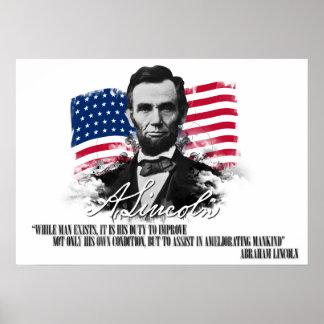 Abraham Lincoln que mejora el poster de la Póster