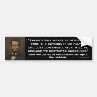Abraham Lincoln Quote_03 Bumper Stickers