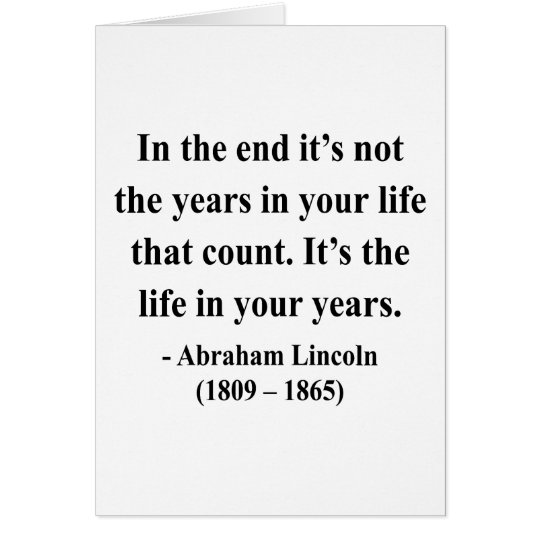 Abraham Lincoln Quote 2a Card