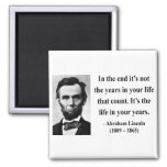 Abraham Lincoln Quote 2b 2 Inch Square Magnet