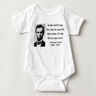 Abraham Lincoln Quote 2b Baby Bodysuit