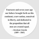 Abraham Lincoln Quote 5a Stickers
