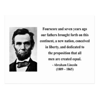 Abraham Lincoln Quote 5b Post Card