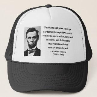 Abraham Lincoln Quote 5b Trucker Hat