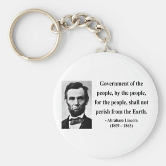 Abraham Lincoln Quote 7b Keychain