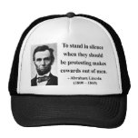 Abraham Lincoln Quote 8b Hat
