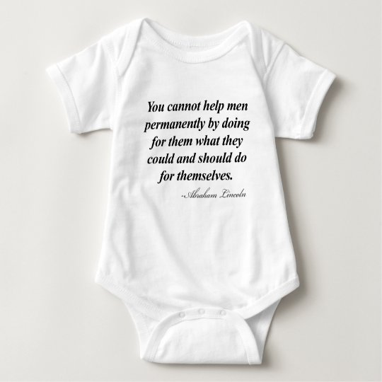 Abraham Lincoln Quote Baby Bodysuit