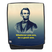 Abraham Lincoln Quote Backpack