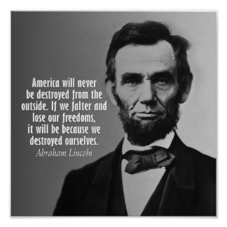 Abraham Lincoln Quote on Freedom Poster