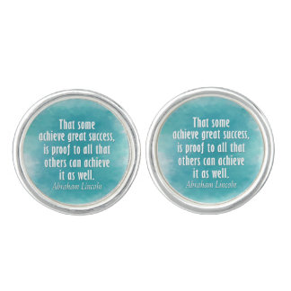 Abraham Lincoln Quote on Success - Watercolor Cufflinks