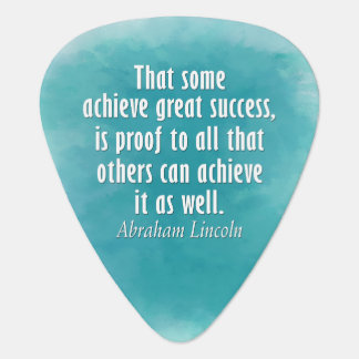 Abraham Lincoln Quote on Success - Watercolor Pick