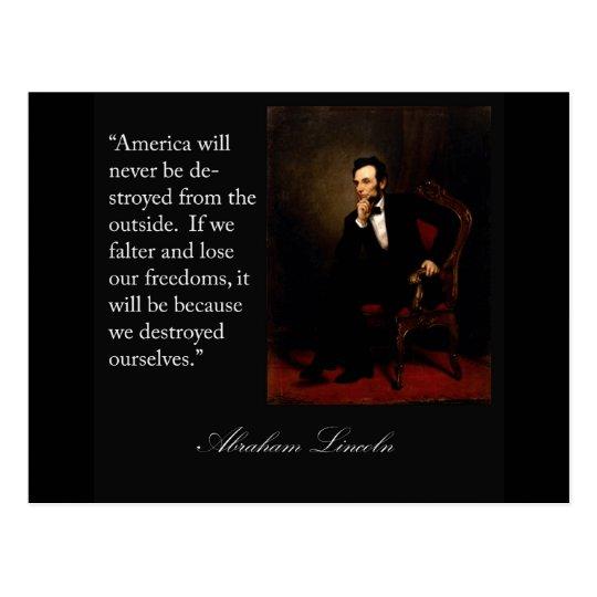 Abraham Lincoln Quote & Portrait Postcard