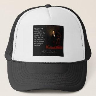 Abraham Lincoln Quote & Portrait Trucker Hat