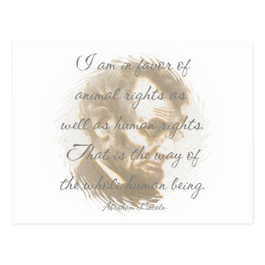 Abraham Lincoln Quote Postcard