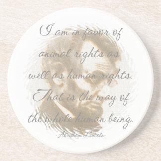 Abraham Lincoln Quote Sandstone Coaster
