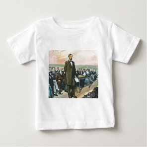 Abraham Lincoln Recites the Gettysburg Address Vin Baby T-Shirt