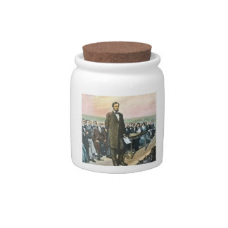 Abraham Lincoln Recites the Gettysburg Address Vin Candy Dishes