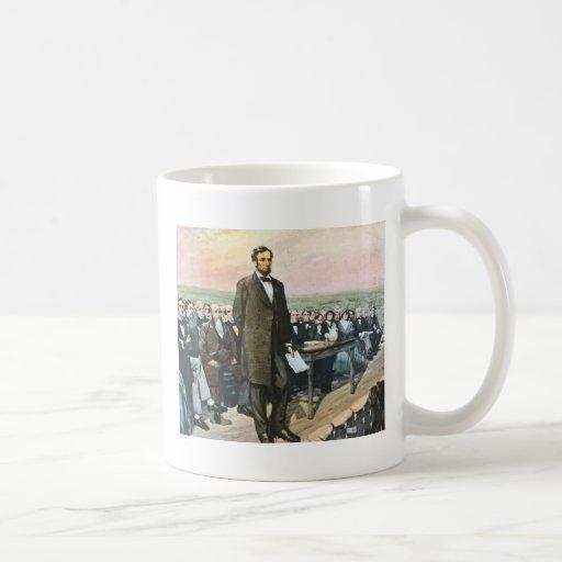 Abraham Lincoln Recites the Gettysburg Address Vin Coffee Mug