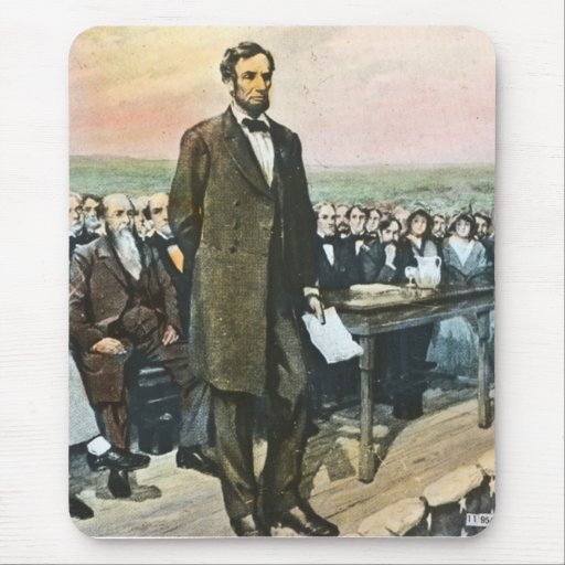 Abraham Lincoln Recites the Gettysburg Address Vin Mouse Pad