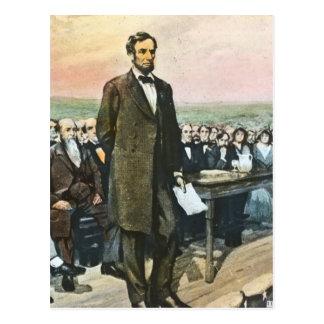 Abraham Lincoln Recites the Gettysburg Address Vin Postcard