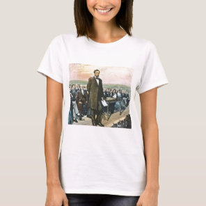 Abraham Lincoln Recites the Gettysburg Address Vin T-Shirt