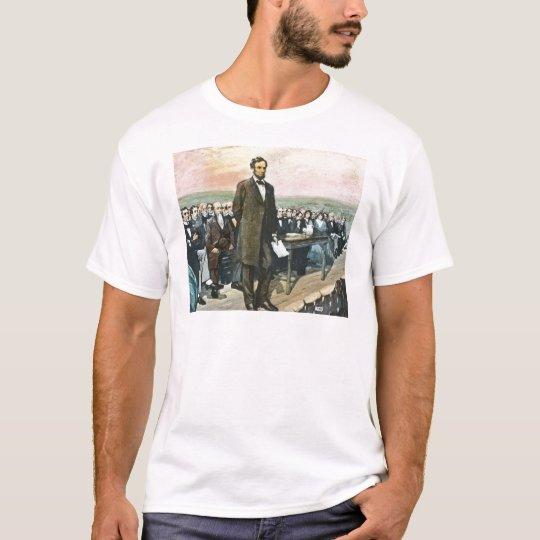 Abraham Lincoln Recites the Gettysburg Address Vin T-Shirt