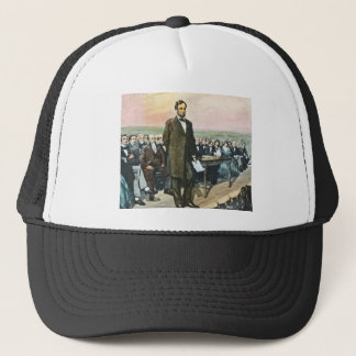 Abraham Lincoln Recites the Gettysburg Address Vin Trucker Hat