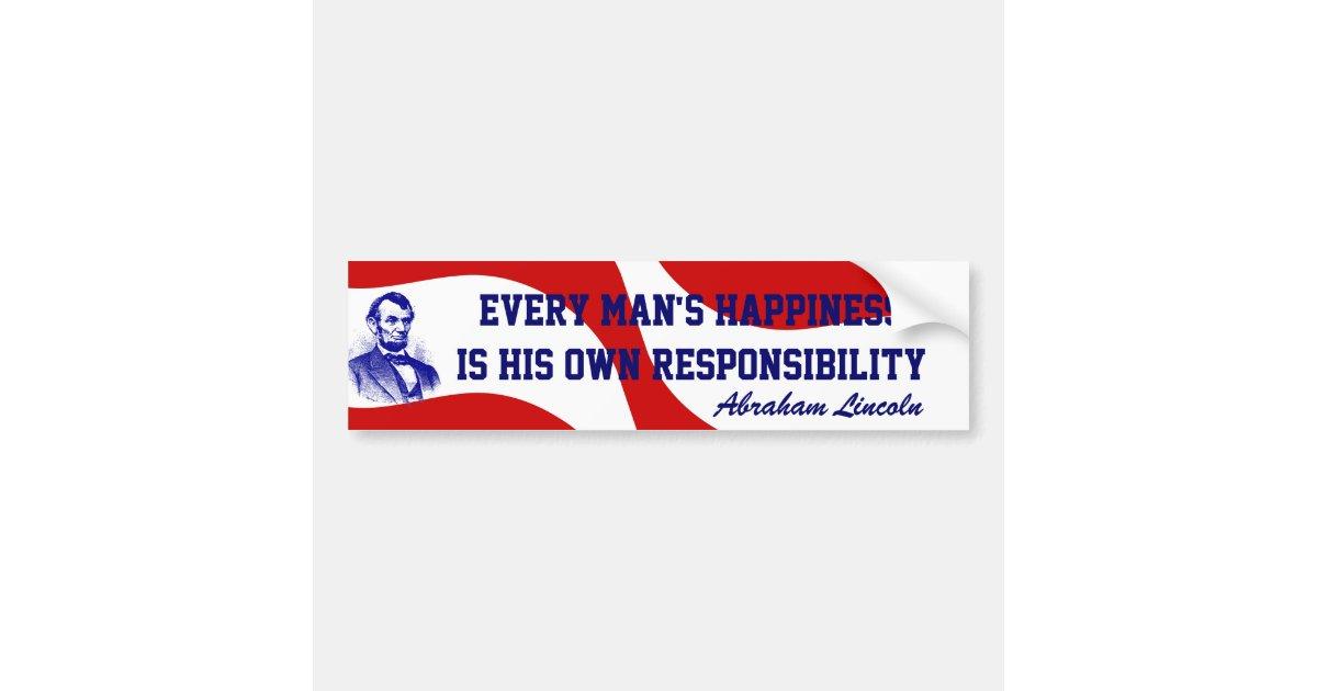 Abraham Lincoln Red White Blue Bumper Stickers Zazzlecom