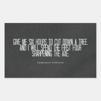 "Abraham Lincoln ""redujo pegatina de la cita de un"