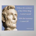 Abraham Lincoln Religion Poster