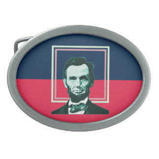 Abraham Lincoln - Retro Oval Belt Buckles