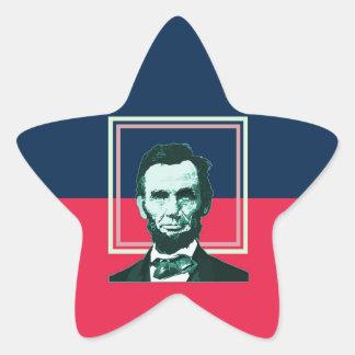 Abraham Lincoln - Retro Star Sticker
