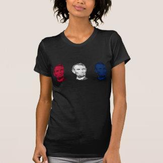 Abraham Lincoln rojo, blanco, y azul Camiseta