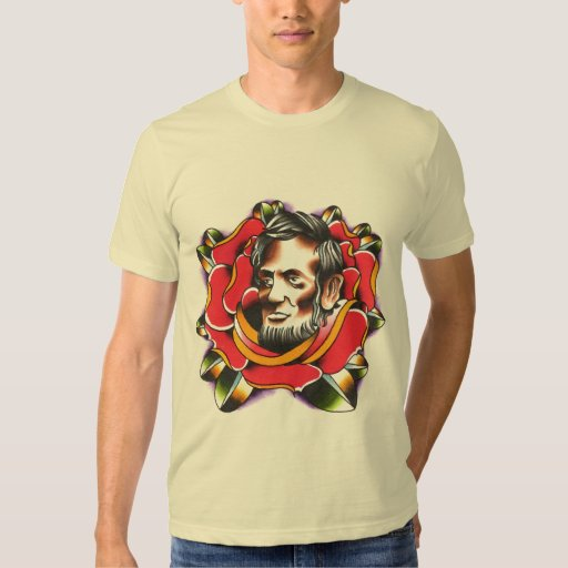 Abraham lincoln rose t shirt zazzle for T shirt printing lincoln