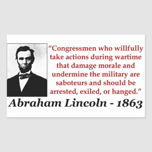 Abraham Lincoln: Saboteurs Rectangular Sticker