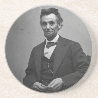 Abraham Lincoln Sandstone Coaster