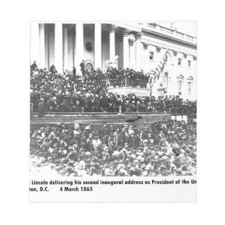 Abraham Lincoln second inaugural address Washingto Notepad