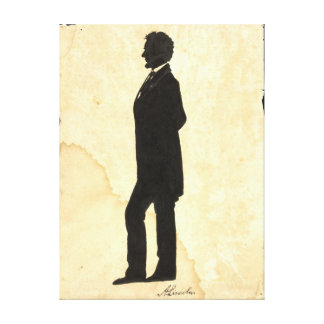 Abraham Lincoln Silhouette 1860 Gallery Wrap Canvas