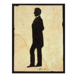 Abraham Lincoln Silhouette 1860 Poster