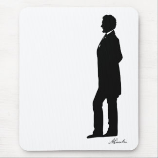 Abraham Lincoln Silhouette Mouse Pad