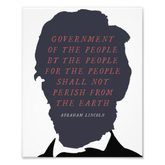 Abraham Lincoln Silhouette Photo Print