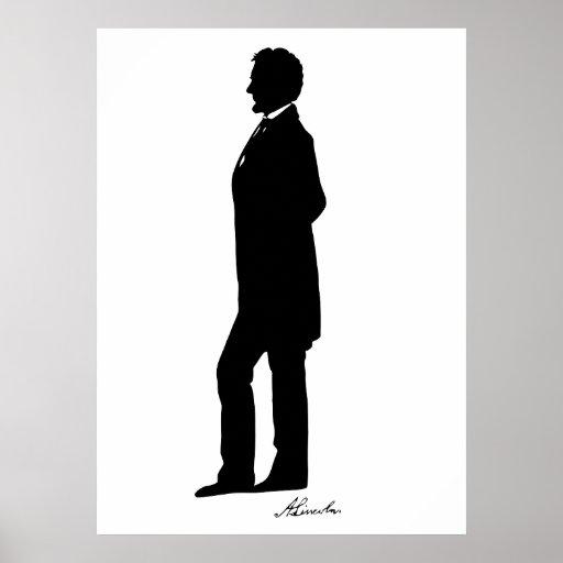 Abraham Lincoln Silhouette Print Zazzle