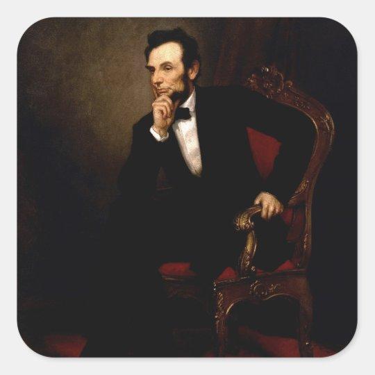 Abraham Lincoln Square Sticker