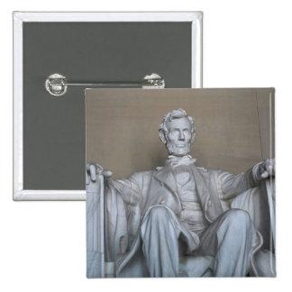 Abraham Lincoln statue 2 Inch Square Button